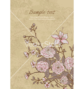 Free vintage floral background vector - vector gratuit #257339