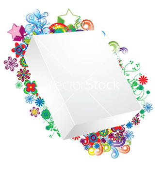 Free blank 3d box with floral vector - Free vector #257489