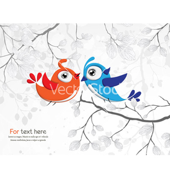 Free love birds vector - vector #257559 gratis
