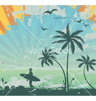 Free grunge summer background vector - Free vector #257579