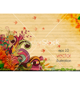 Free vintage floral background vector - vector #257599 gratis