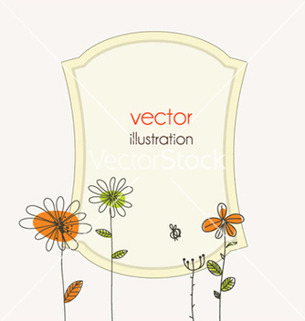 Free abstract frame with floral vector - Free vector #257639