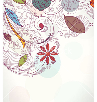 Free retro floral background vector - Free vector #257649