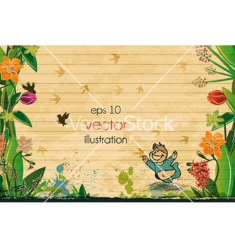 Free summer floral background vector - Free vector #257859