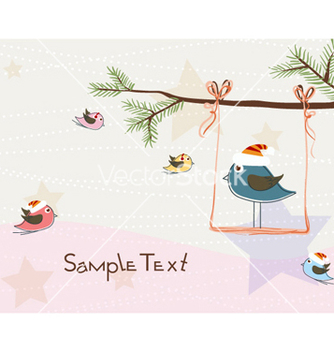 Free christmas greeting card vector - Kostenloses vector #257919
