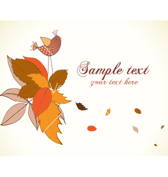 Free autumn floral background vector - Free vector #257999