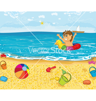 Free kid playing in water vector - Free vector #258039