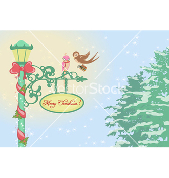 Free christmas greeting card vector - Free vector #258119