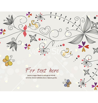 Free butterflies with floral vector - Free vector #258309