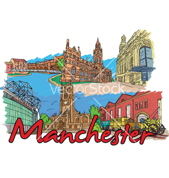Free manchester doodles vector - Free vector #258409