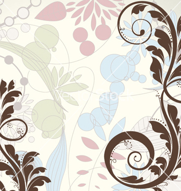 Free retro floral background vector - Free vector #258439