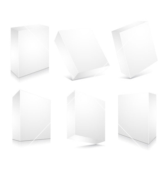 Free blank 3d boxes set vector - бесплатный vector #258449