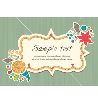 Free spring floral frame vector - Free vector #258619