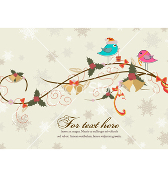 Free birds with floral vector - Kostenloses vector #258779