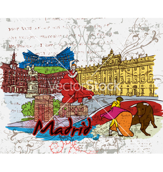 Free madrid doodles vector - Free vector #259029