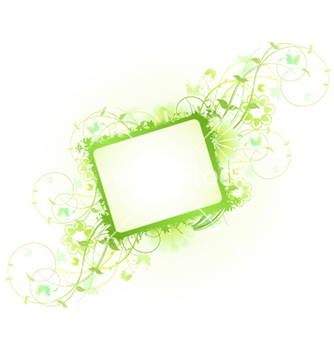 Free spring floral frame vector - Free vector #259419