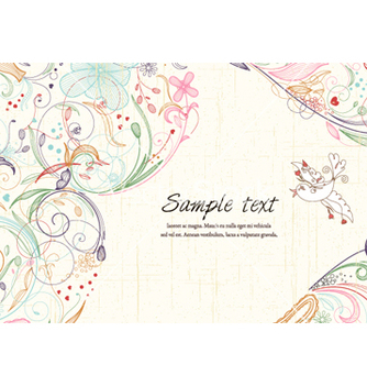 Free bird with floral vector - Kostenloses vector #259459
