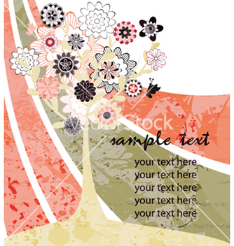 Free watercolor greeting card vector - бесплатный vector #259639