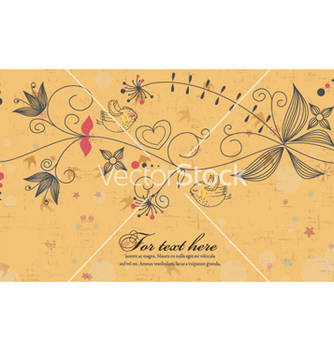 Free birds with floral vector - Kostenloses vector #259899