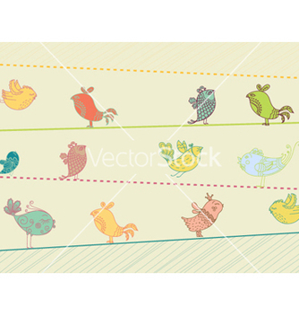 Free birds on wire vector - бесплатный vector #259929