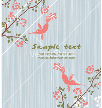 Free vintage floral background with birds vector - Kostenloses vector #259979
