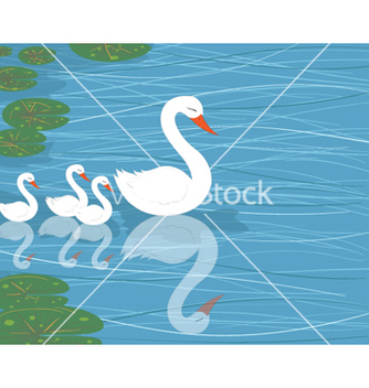 Free swans on water vector - Free vector #260119