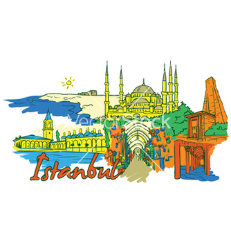 Free istanbul doodles vector - Free vector #260139