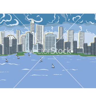 Free cartoon city vector - Free vector #260459