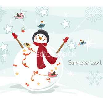 Free winter background vector - vector #260469 gratis