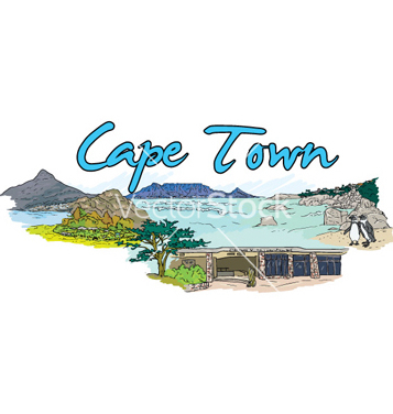 Free cape town doodles vector - Free vector #260649