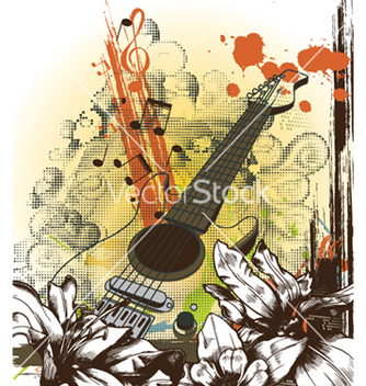 Free retro music background vector - Free vector #260739