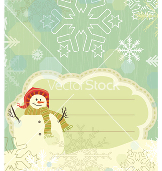 Free snowman with snowflakes vector - бесплатный vector #260909
