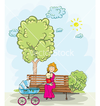Free mom and son vector - Kostenloses vector #261019