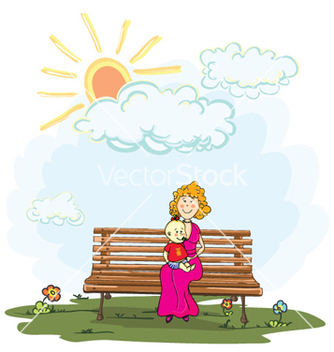 Free mom with baby vector - Kostenloses vector #261119