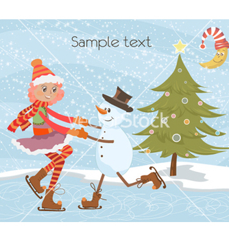 Free christmas greeting card vector - Kostenloses vector #261149