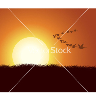 Free flock of birds vector - Free vector #261169