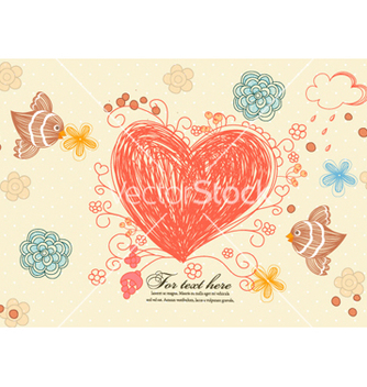 Free birds in love vector - Kostenloses vector #261269