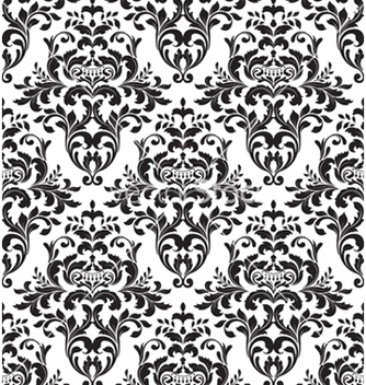 Free damask seamless background vector - Kostenloses vector #261279