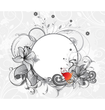 Free abstract floral frame vector - Free vector #261289