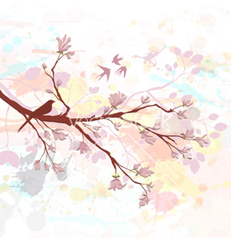 Free bird on a branch vector - бесплатный vector #261429