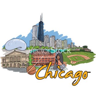Free chicago doodles vector - Free vector #261559