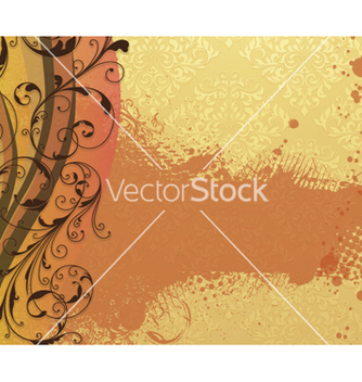 Free damask background with floral vector - Free vector #261609