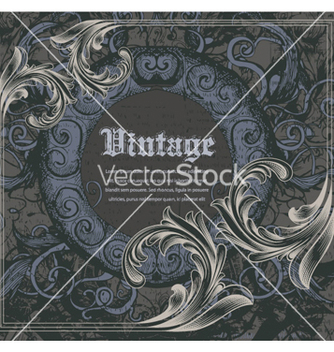 Free vintage frame with engraved floral vector - Kostenloses vector #261719