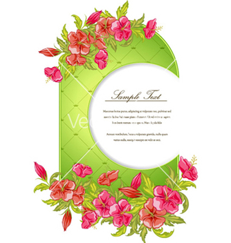 Free colorful floral frame vector - бесплатный vector #261839
