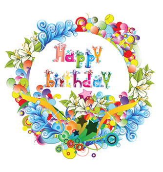 Free happy birthday vector - Kostenloses vector #261849