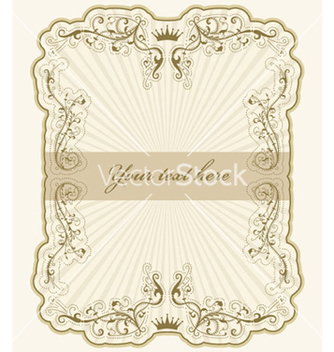 Free vintage label with rays vector - vector #261929 gratis