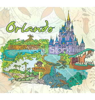 Free orlando doodles with floral vector - Free vector #261979