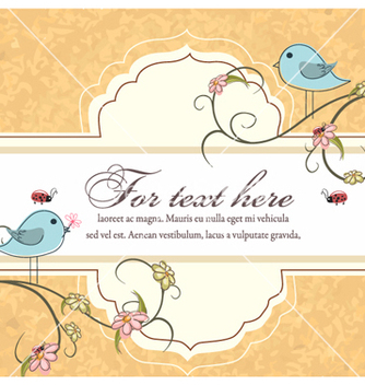 Free label with floral vector - Kostenloses vector #261989