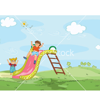 Free kids playing vector - Kostenloses vector #261999