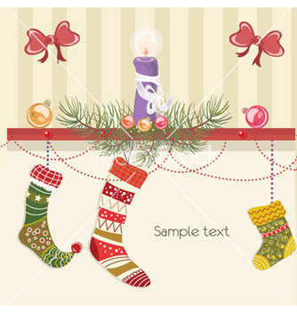 Free christmas greeting card vector - Kostenloses vector #262029